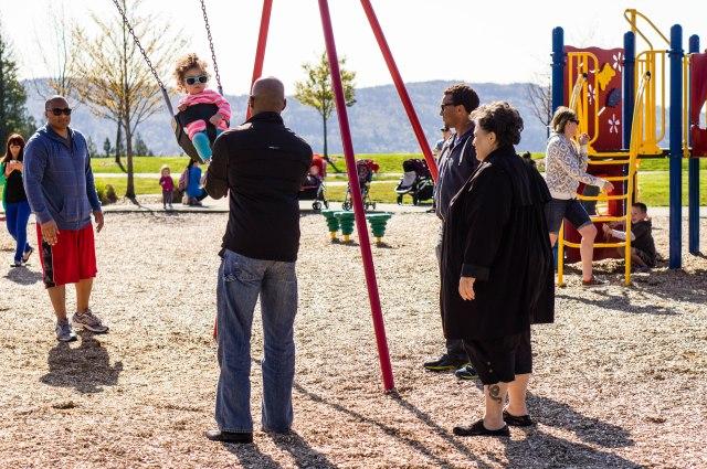 Swinging with the Jourdan crew.