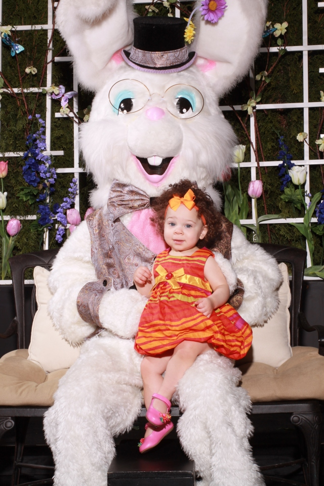 Started off the week by sitting on Mr. Easter Bunny's lap...It.Was.Amazing!!  I even hugged him and blew him lots of kisses!