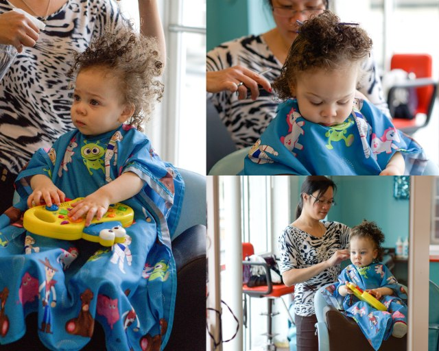 Her very first haircut and she did FABULOUS!