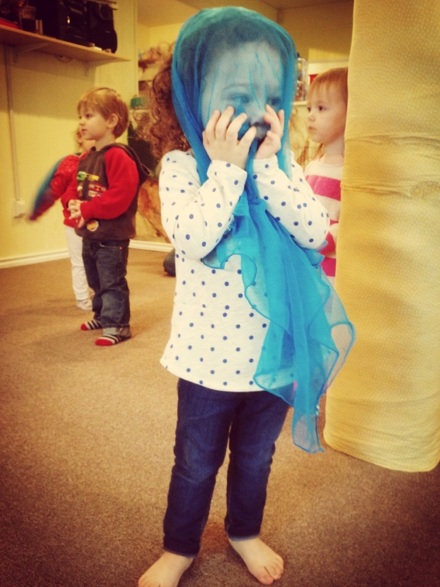 10:30am-11:30am Music Class at Gilman Village!  Peek a boo!