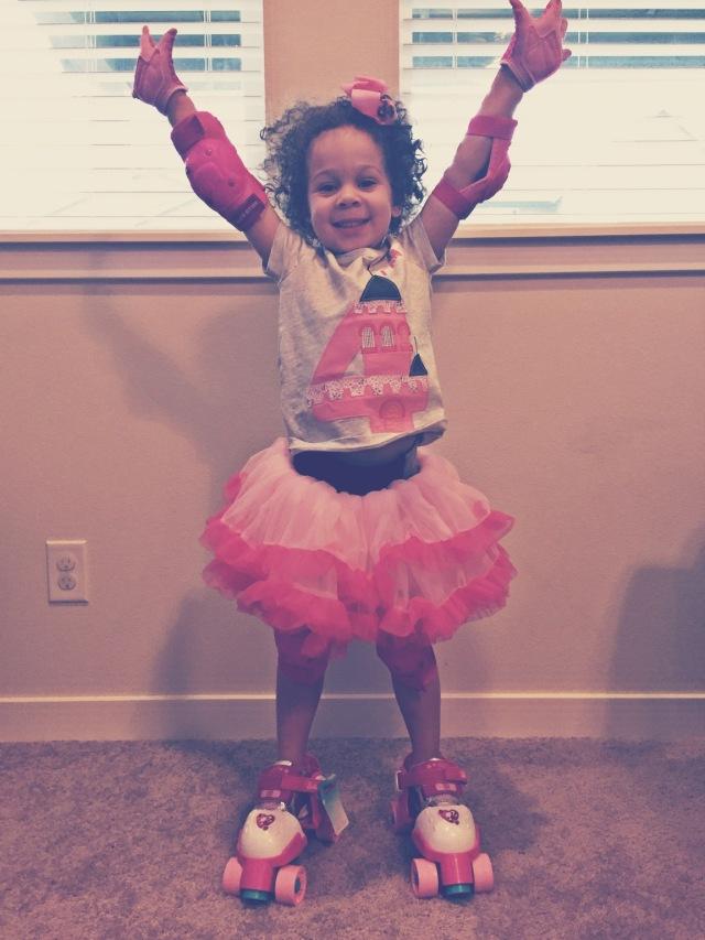 I got roller skates!