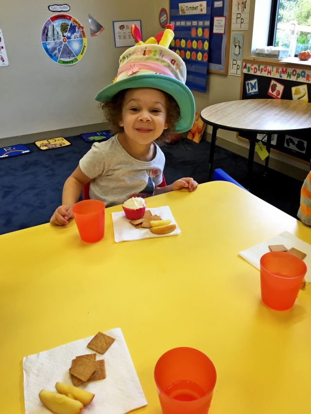 Preschool birthday celebration
